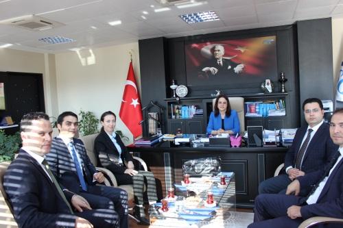 Tekirdağ İl Müdürü Fatma Derya Alan' ı ziyaret.